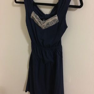 Vintage Vibe blue dress with bow back.